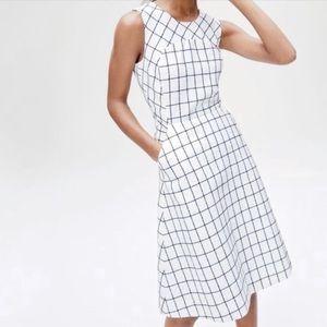 J Crew Sleeveless A-Line Dress in Windowpane Tweed